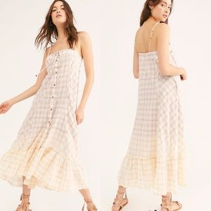 🎉HP🎉 Free People Plaid City Maxi Top Dress